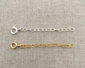 "Sterling Silver or Gold Filled Chain Extension 2"", 3"", or 4"", Necklace Extender, Chain Extender, Necklace Extension, Silver Chain Extender"