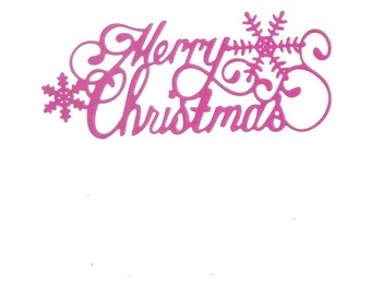 Merry christmas set of 10 scrapbooking cutting