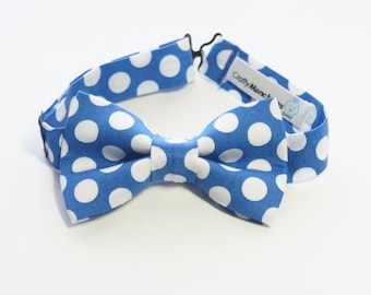 Bow Tie - Blue with Polka Dots Bowtie