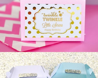 Twinkle Twinkle Little Star Favors Twinkle Twinkle Little Star Baby Shower Favors Twinkle Little Star Birthday (EB2313FB) set of 12 Boxes