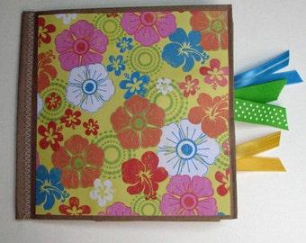 You Title It Floral Paper Bag Scrapbook