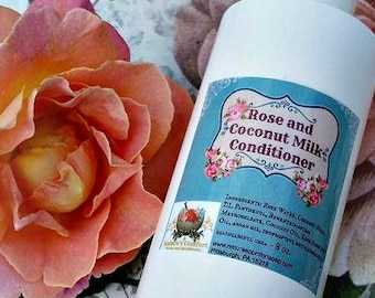 Rose Water and Coconut Milk Conditioner