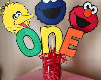 Sesame Street Party Decorations Birthday Table Centerpiece Elmo Cookie Monster Big Bird Centerpiece Sticks Sesame Street Birthday