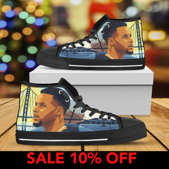 Warriors Curry Sneaker Curry Curry NBA Custom Basketball Custom Steph Stephen Converse Top Shoes Shoes State Custom High Stephen Golden gfdAOq