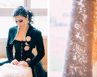 """robe de mariée """"Black heart """""""