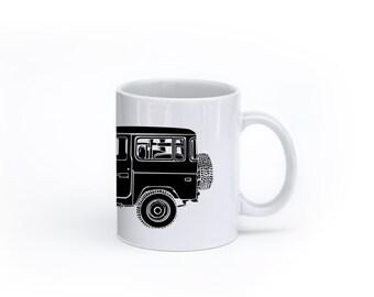KillerBeeMoto: U.S. Made Limited Release Japanese Four Wheel Drive Off Road Vehicle Side View Coffee Mug (White)