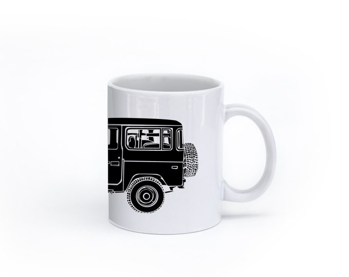 KillerBeeMoto: U.S. Made Limited Release Japanese Four Wheel Drive Off Road Vehicle Side View Coffee Mug (White)