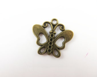 10 Butterfly charms