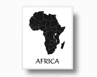 Awesome Africa Map Print, Africa Printable Map, Africa Poster, Africa Map Poster,  Map