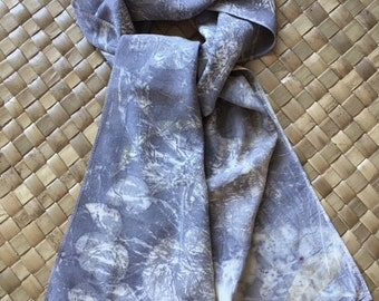 Silk Crepe de Chine Scarf - Dusty Violet ( 8.5x54in approx)