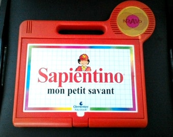 Vintage 1980'S Sapientino Clementoni mon petit savant French learning and associated electronic game