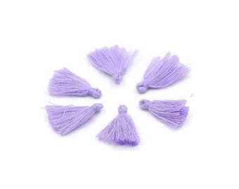 Purple cotton tassel