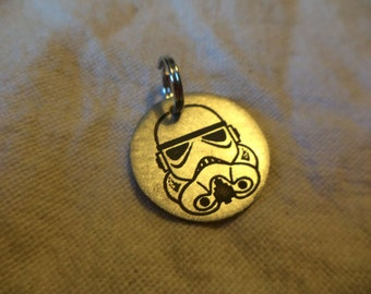Star Wars inspired Nickel Silver Charm