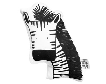 Zissou the Zebra Soft Toy Pillow by The Wild - Stuffed Toy, Plushie, Stuffed Animal, Baby Toy, Zebra Plush, Baby Stuffed Toy