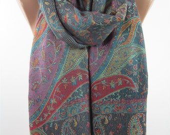 Clothing Gift Pashmina Scarf Winter Scarf Paisley Scarf Green Scarf Shawl New Year Accessories   For Wife Gift For Women Gift For Her