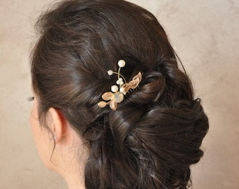 Small hair comb for bride, colorful wedding jewelry