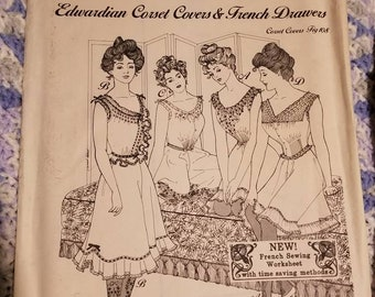 Edwardian corset covers and French drawers pattern, ladies 108, Past Patterns