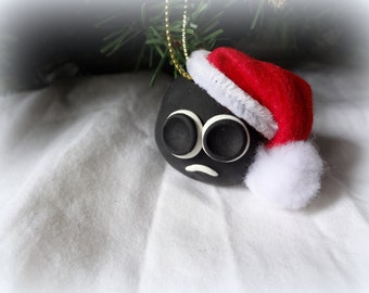 "Christmas ""Cole"" Ornament Custom Made coal"