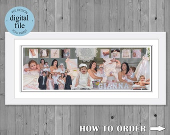 Christening Gift Photo  Collage for Christening Christening Gift Photo collage gift Christening Collage
