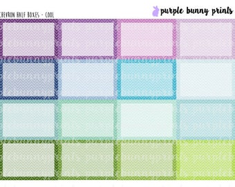 Chevron Half Boxes // Planner Stickers!