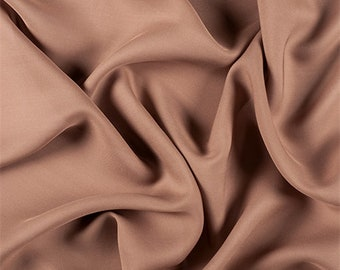 Brown Silk Double Georgette, Fabric By The Yard