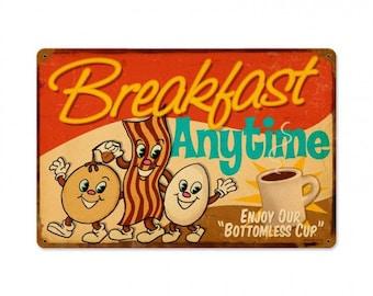"Metal Sign "" Breakfast Diner Kitchen Decor "" 12""x18"" Dia. Man Cave"