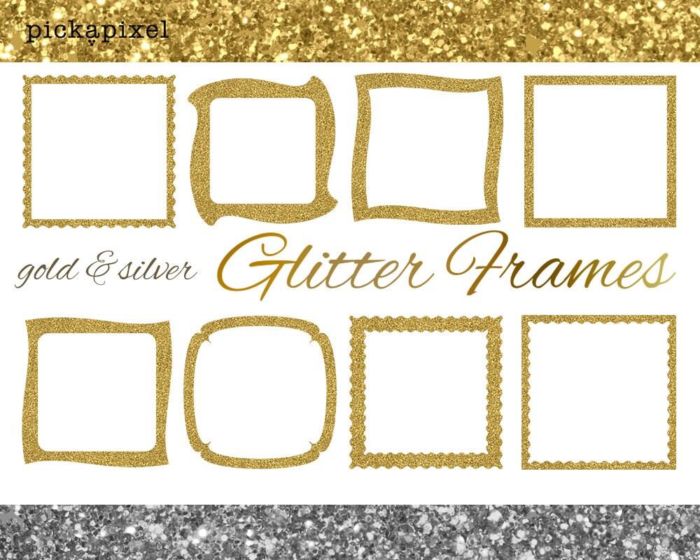 Glitzerrahmen, Weihnachten Frames, Gold Bilderrahmen, silberne ...