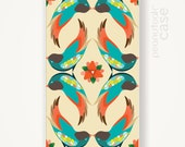 Birds iPhone case in hard plastic case with Birds vintage illustration iPhone hard plastic case iPhone 5  iPhone 4 hard cover iPhone case