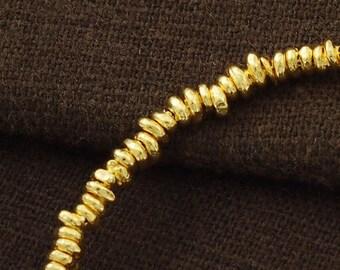 70 of Karen hill tribe  24K Gold Vermeil Style Irregular Beads 3 - 5 mm.  :vm0573