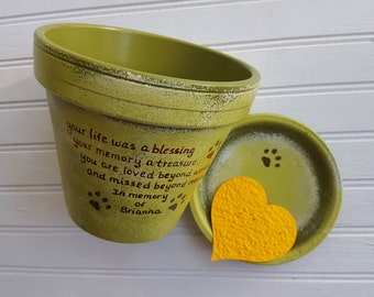 Dog Memorial Gift - Painted Flower Pot - Pet Memorial Planter - Cat Memorial Gift - Memorial Planter - Pet Memorial Gift