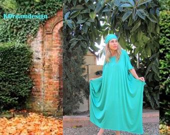 Flowy dress   Off Shoulder Boho Dress  Short Sleeve Loose Dress   Summer dress   Comfy dress  