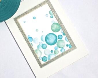 SEAFOAM Matted Art Print fits 5x7 Frame