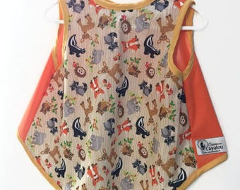 waterproof apron for child baby bib cayalou coat covers - all animals pul forest