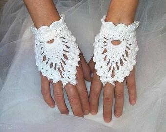 Mittens crochet white mittens, mittens lace crochet mittens white wedding, mittens white ceremony, wedding