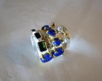 Sterling Artisan WIDE Cigar Band Ring