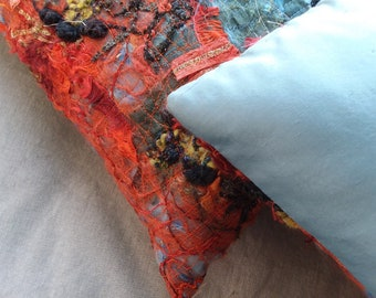 Fiber Art Pillows