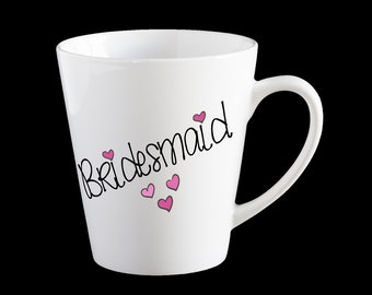 Personalised Bridesmaid Coffee Mug, Wedding mug, team bride, bridesmaid  coffee mug, bridesmaid gift