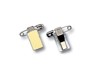 BADGE attached: adhesive clip Clip pin + Alligator Clip
