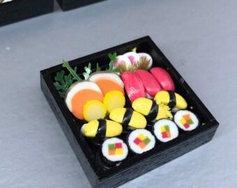 Miniature Japanese Sushi,Miniature Sushi Set,Miniature Japanese food,Sushi box set,Sushi,Mini Japanese Food,Miniature food