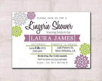Lingerie Party Invitation custom printable 5x7