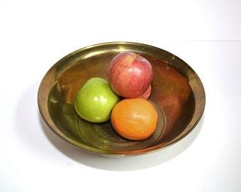 Vintage Brass Bowl Brass Dish Brass Fruit Bowl Brass Container Brass Home Decor