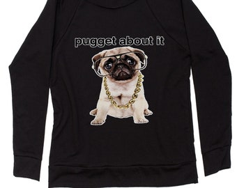 Pugget About It Slouchy Off Shoulder Oversized Sweatshirt