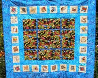 Sea life lap quilt