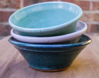 Speckled Blues - Trio of Bowls