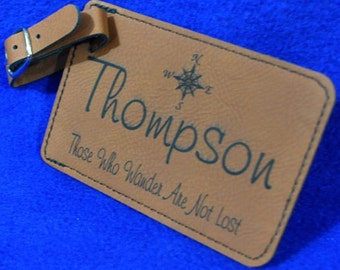 Luggage Tags ~ Groomsmen Gift ~ Bridal Party Gift ~ Leather Tag ~ Destination Wedding ~ Monogram Gift ~ Travel Gift ~ Bridal Shower Gift ~