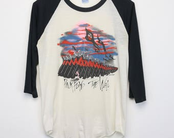 Pink Floyd Shirt Vintage tshirt 1982 The Wall tee 1980s David Gilmour Nick Mason Roger Waters Music Psychedelic Acid Rock And Roll Band