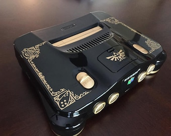 Custom Painted The Legend of Zelda Ocarina of Time Nintendo 64 Console