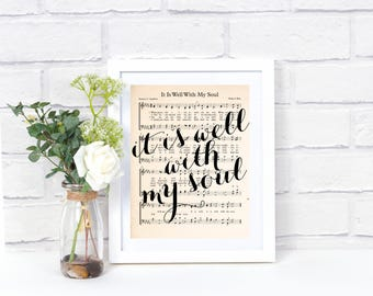 Printable Hymn Art - It Is Well