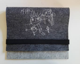 Laptop case personalized with your baby drawing