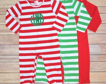 Boy Christmas outfit, boy Christmas romper, baby boy Christmas outfit, toddler boy Christmas romper, winter outfit, monogrammed romper